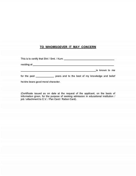 Character Certificate Letter For Sle Application Letter To Your School Principal For A