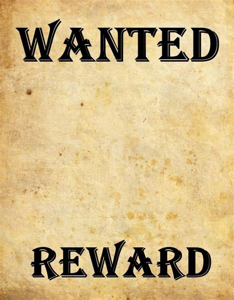 Wanted Poster Template Free Download Invitation Template Wanted Poster Template Powerpoint