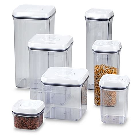 Glass Kitchen Canister Sets oxo good grips 174 square food storage pop container bed