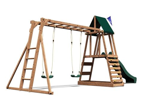 wooden slide and swing set uk wooden climbing frame children s swing slide sets sandpit
