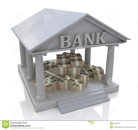 www bank 3d bank and dollars stock image image 35278651