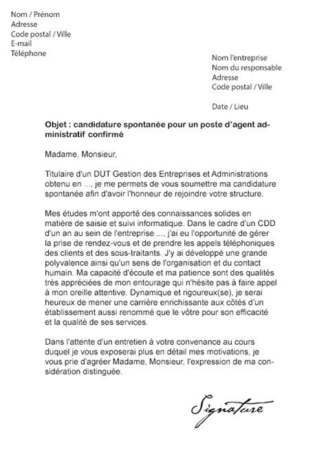 Lettre De Motivation Candidature Spontanée A La Mairie Lettre De Motivation Candidature Spontanee Le Dif En Questions