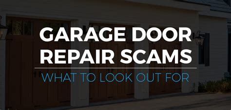 Garage Door Repair Scams Garage Door Repair Scams What To Look Out For Banko