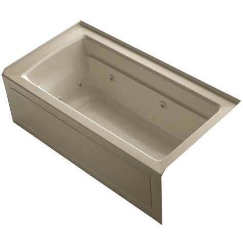bathtub drain home depot american standard princeton 5 ft right drain bathtub in linen 2391 202 222 the home