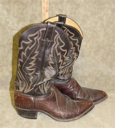vintage cowboy boot l vintage leather justin cowboy boots size 9