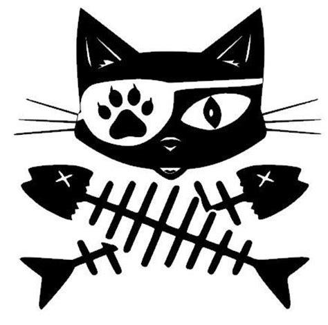 Gildan Custom Graphic Tshirt Marine Pirate Flag cat pirate decal sticker cat decal surfmonkeygear