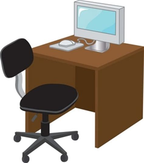 bureau clipart office desk clipart