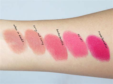 Lipstik La Matte which faced la matte color drenched lipstick is right