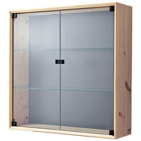 pine wall cabinet with glass doors wall display with glass doors mogams