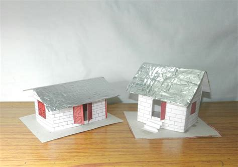 House With Paper - how to make a 3d paper house an easy craft for