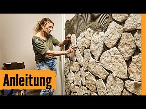 steinplatten wand steinverblender anbringen mit fugen hornbach