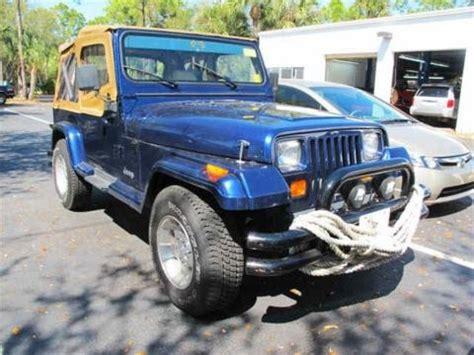 1989 Jeep Wrangler Yj Value 1989 Jeep Wrangler 4x4 Data Info And Specs