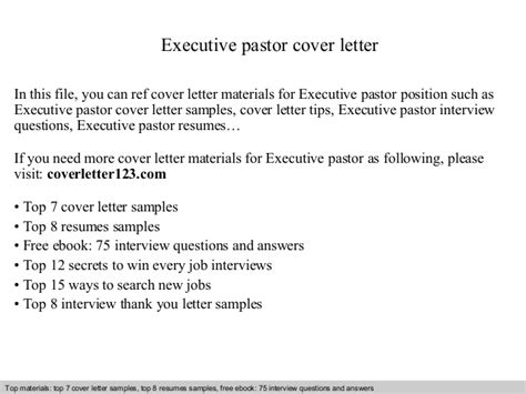 pastor cover letter executive pastor cover letter