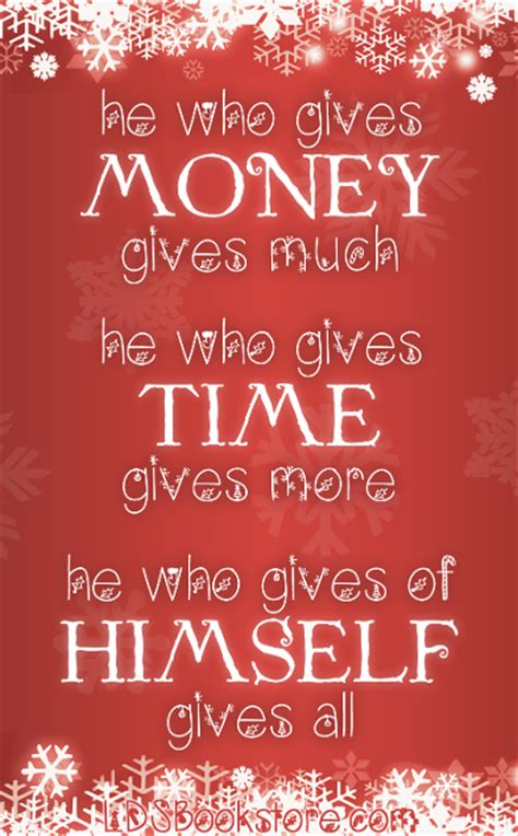 christmas gift giving quotes lds quotes on time quotesgram