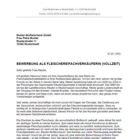 Bewerbungsschreiben Muster Verkäuferin Teilzeit Ungelernt Bewerbung Als Fleischereifachverk 228 Ufer