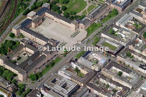 latitude image schloss mannheim aerial photo