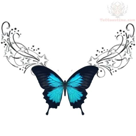 blue butterfly tattoo designs lowerback blue butterfly tribal design