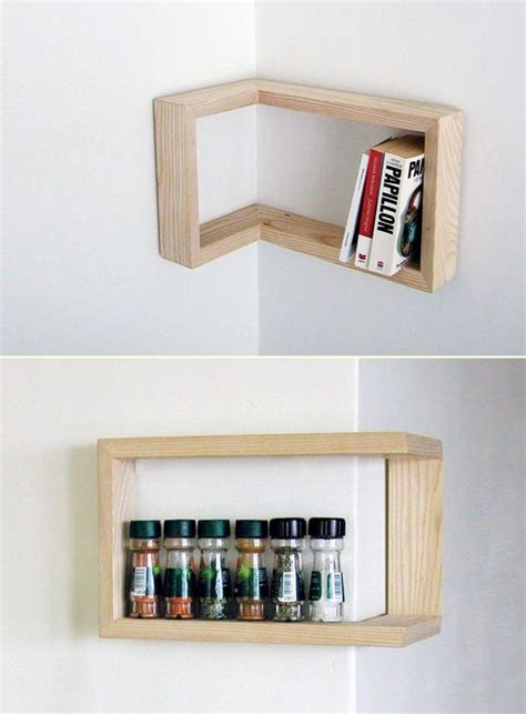 cool corner shelves diy floating shelves