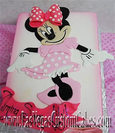 Kid Mickey Ribbon Pink Pretty In Pink Minnie Mouse Cake Unique Birthday