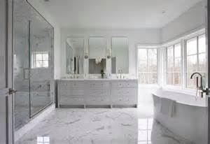 Master Bathroom White by White And Gray Master Bathroom With Gray Dual Vanity