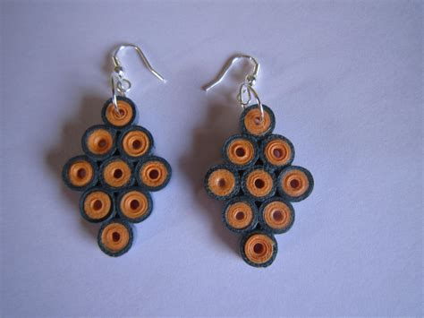 Jewellery With Quilling Paper - handmade jewelry paper quilling earrings 2