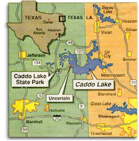 caddo texas map about caddo lake