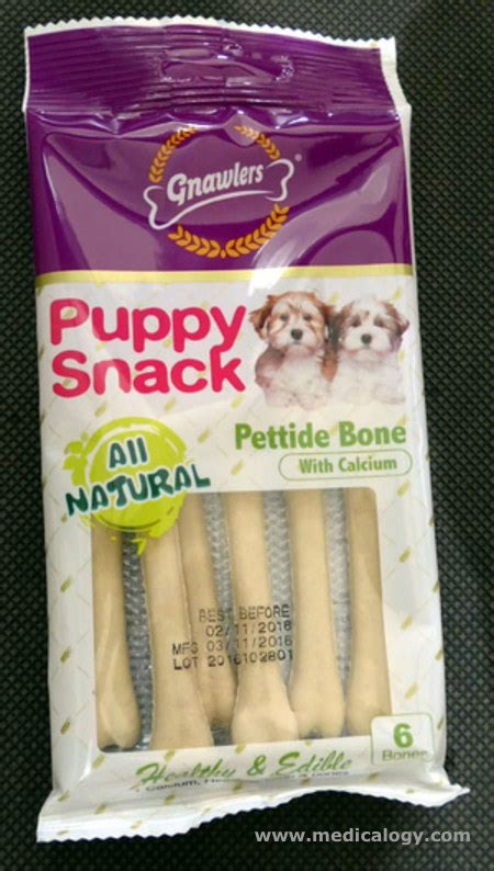 Gnawlers Puppy Snack jual snack anjing gnawlers puppy snack pettide bone 40g 01170 murah