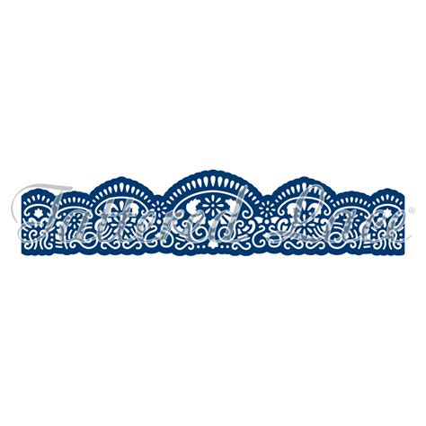Lace Bordir border d698 tattered lace