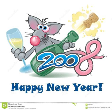 new year what does rat new year 2008 rat personage stock illustration