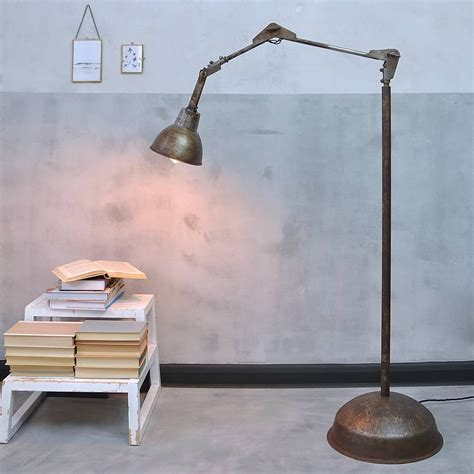 6 bulb floor l industrial angle poise floor l by industrial by design