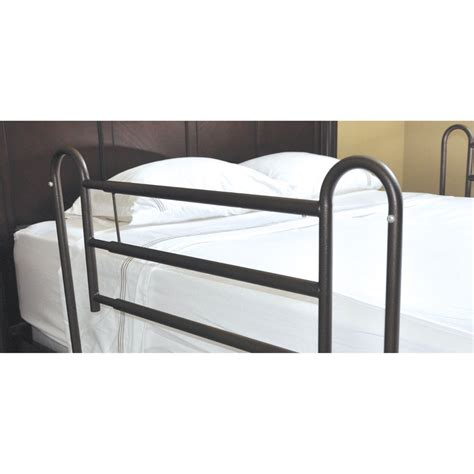 bed railings tool free adjustable length home style bed rail system