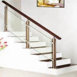 Banister Hardware Stainless Steel Staircase Wooden Handrail Baluster And