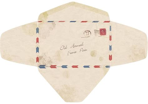 envelope pattern old english template for an old fashioned airmail envelope
