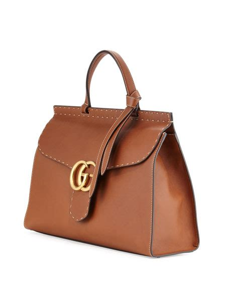 gucci marmont large leather top handle bag cuir