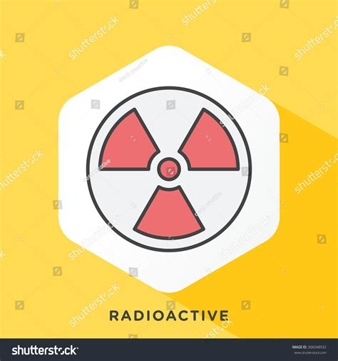 Outline Offset Color by Radioactivity Icon Grey Outline Offset Stock Vector 306048932