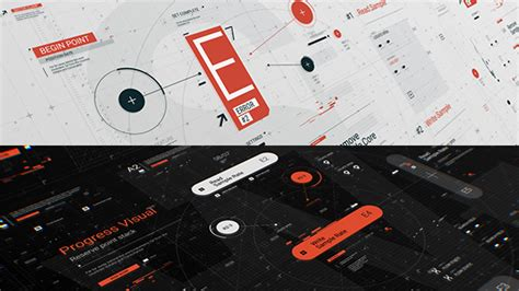 hud typo graphics pack technology after effects