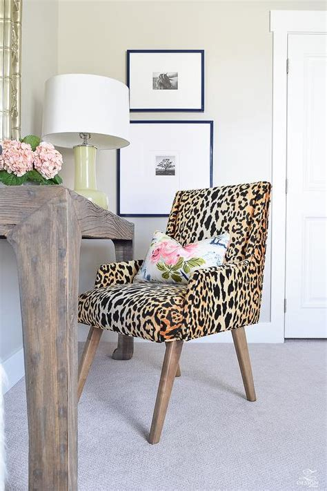 animal print desk chair braemore jamil natural gold and black fabric