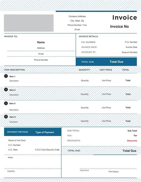 free business invoice template 25 free invoice template professional and simple documents