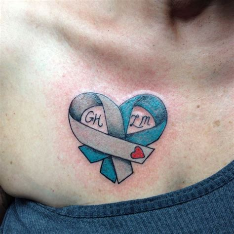 awareness ribbon tattoos designs diabetes awareness ribbon for my cervical cancer