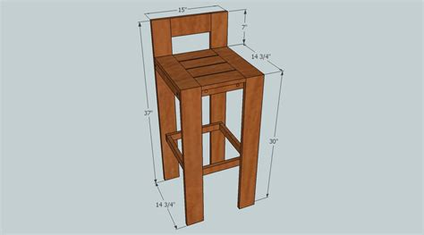 wooden bar stool plans  woodworking