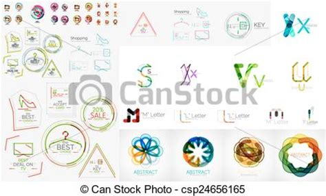 are design elements universal regardless of the medium clip art vector of set of universal company logos and
