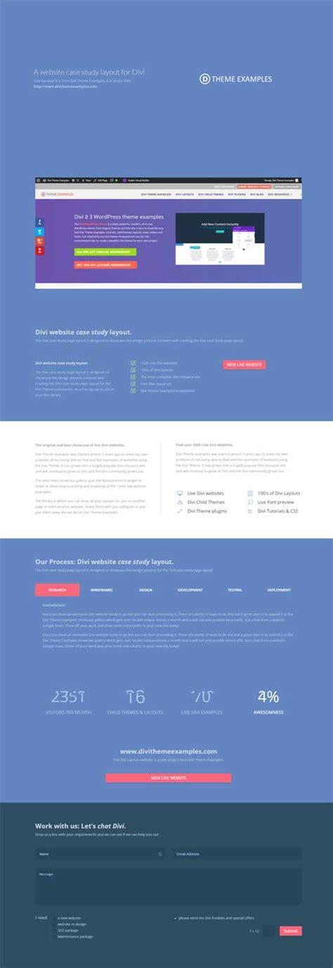 divi theme exles portfolio portfolio case study 1 page layout divi theme layouts