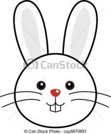 vector clip art of cute rabbit vector cute animal faces