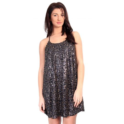 black sequin swing dress sequin swing dress from parisia