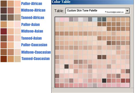 tone on tone color skin tone palette by mariondf on deviantart