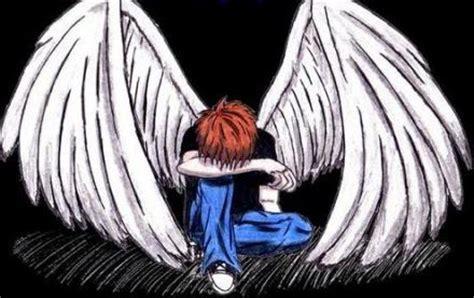 imagenes angeles llorando emo triste llorando anime imagui