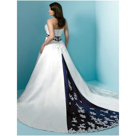 Cheap Plus Size Blue Wedding Dresses   Evening Wear