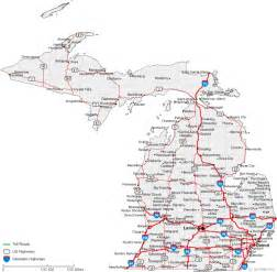 Road Map Of Michigan by Map Of Michigan Cities Road Maps Of The United States