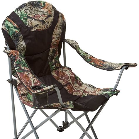 foldable reclining chair foldable reclining c chair black hunt camo stylish