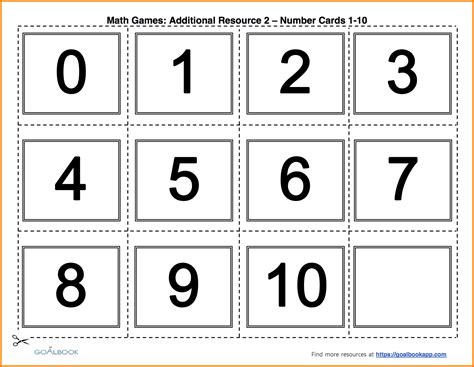 printable number cards 1 10 6 number cards 1 10 the mayors back to school fair